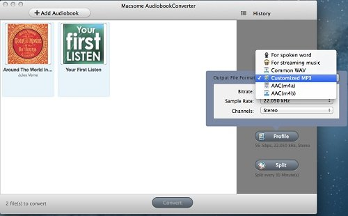 Convert AAX to MP3 for Mac with Macsome Audio Book Converter