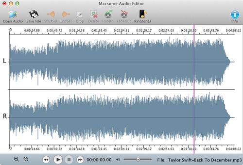 Online Tutorial of Audio Editor - audio editing freeware on Mac OS X