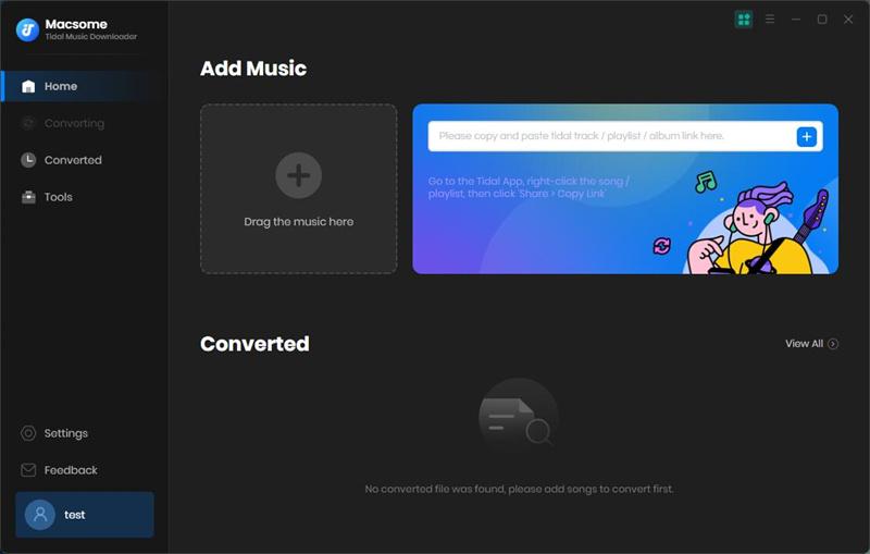 Macsome Tidal Music Downloader screenshot